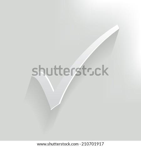 Check mark,clean vector - stock vector