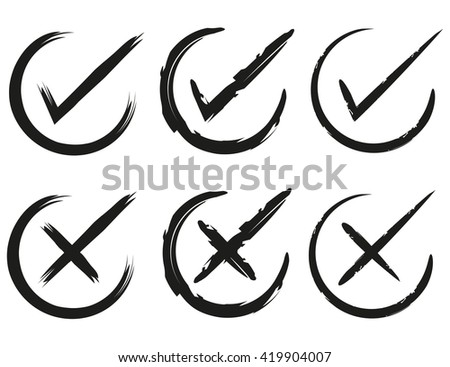 check mark, confirm icons - stock vector