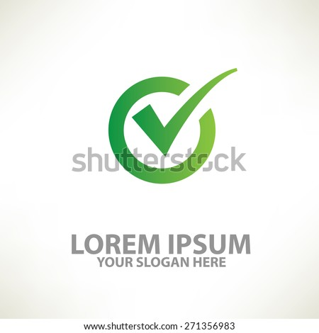 Check mark design,logo template,clean vector - stock vector