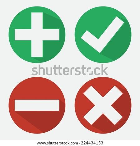 Check mark icons. - stock vector