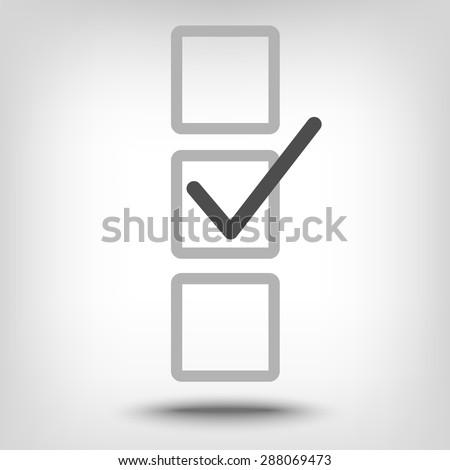 Check mark in box icon as a concept - stock vector