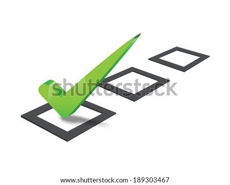 check mark isolated on white background - stock vector