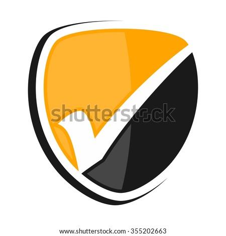 check mark logo vector. - stock vector
