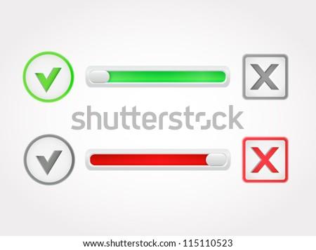 Check mark question buttons. Vector - stock vector