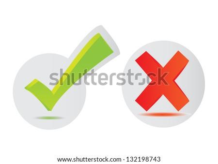 Check mark stickers , Vector - stock vector
