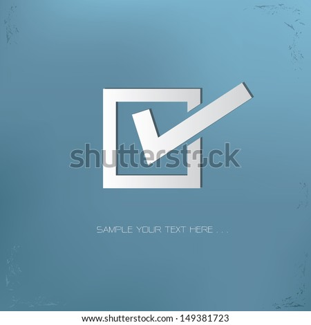 Check mark symbol,vector - stock vector
