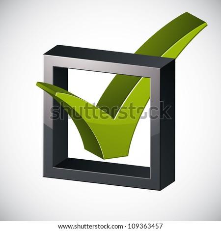 Check mark tick, vector election design element. - stock vector