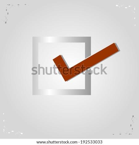Check Mark, Vector Illustration - stock vector