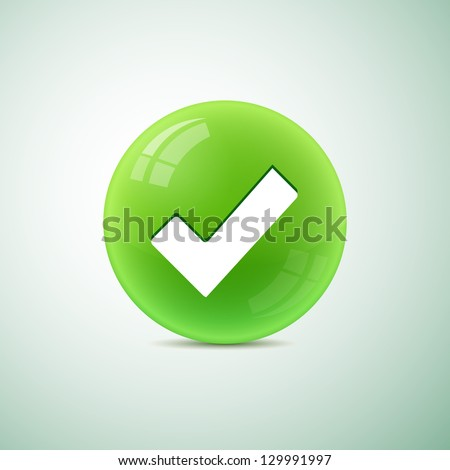 check symbol  in circle - stock vector
