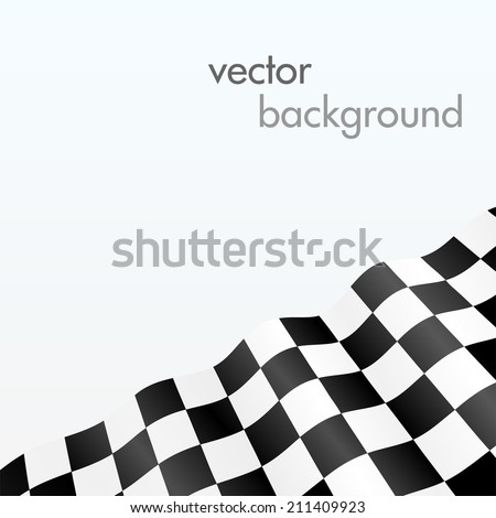 Checker flag background - stock vector