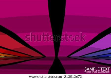 Checkered abstract vector background illustration reflected - Colorful checkered abstract background template - stock vector