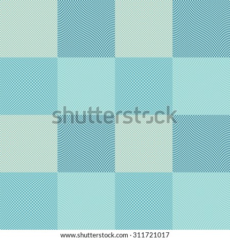 Checkered background. Chess board squares distortion vector seamless pattern set. Seamless wallpaper patterns. Abstract colorful checkered background.  - stock vector