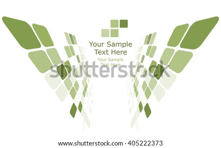 Checkered background with text space. Ideal balanced colors in green tone. Suitable for creating business, technological and other designs. Vector illustration. - stock vector