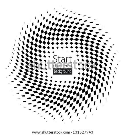 Checkered black and white flag background illustration - stock vector