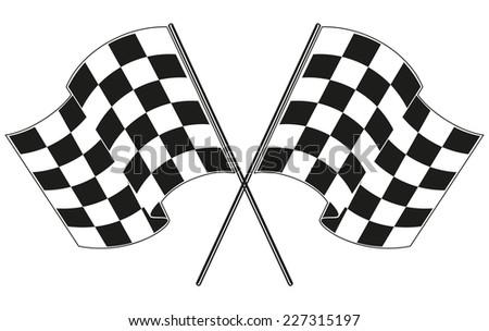 checkered flag racing - stock vector