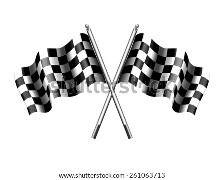 Checkered Flags - Chequered flag - stock vector