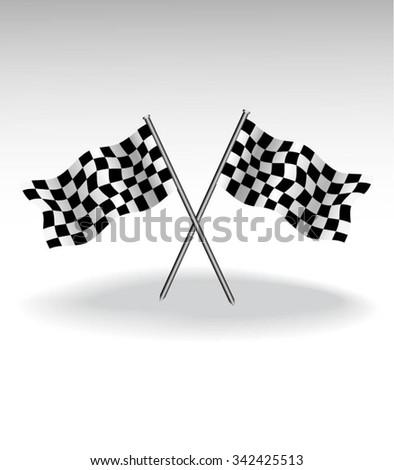 checkered flags motor racing - stock vector