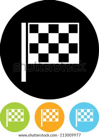 Checkered racing flag - Vector  Race Flag Icon