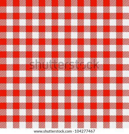 Checkered tablecloth. Seamless vector. - stock vector