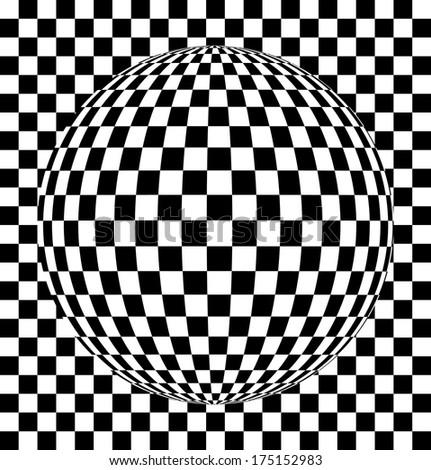 Checkered texture 3d background. Abstract. Design concept  - stock vector