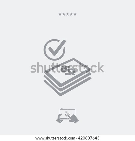 Checking payment icon - Dollars - stock vector