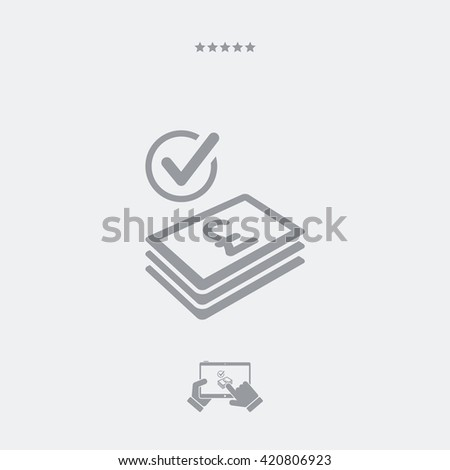 Checking payment icon - Sterling - stock vector