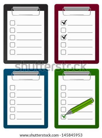 checklist clipboard icon - stock vector