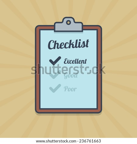 Checklist illustration in flat style. Vector in EPS10. - stock vector