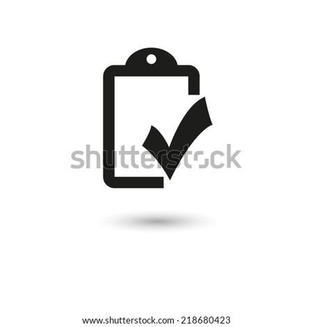 checklist  - vector icon - stock vector