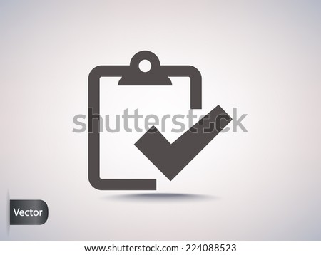 checkmark icon  - stock vector