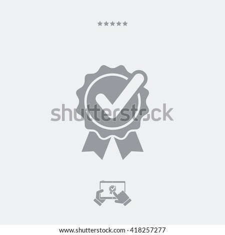 Checkmark rosette flat icon - stock vector