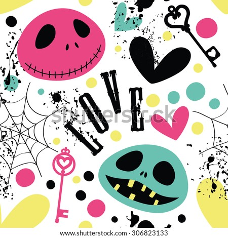 Cheerful pattern for a fun Halloween. - stock vector