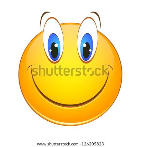 cheerful smiley - stock vector
