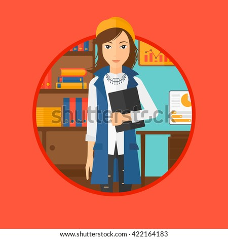 Cheerful successful business woman. - stock vector