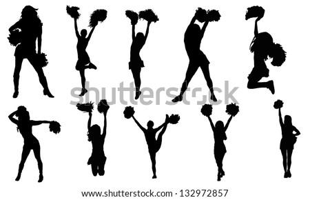 Cheerleaders - stock vector