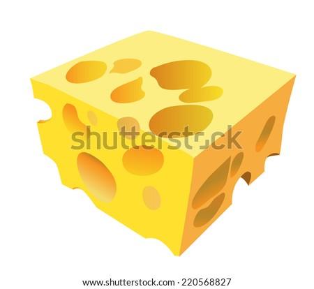cheese - stock vector