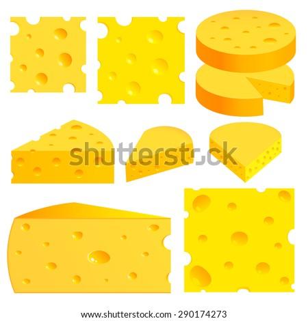 Cheese set. Illustration - stock vector