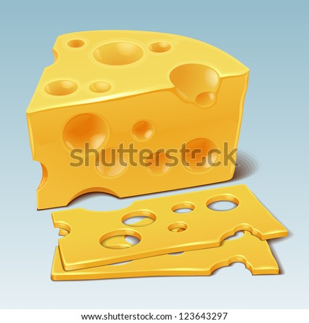Cheese vector - stock vector