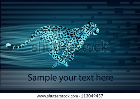 Cheetah on abstract background vector - stock vector