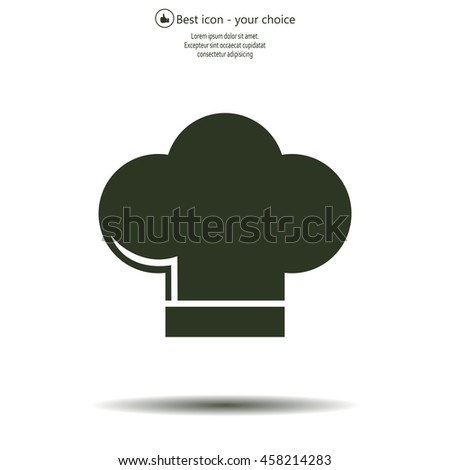 Chef cap icon. Cooking cap - stock vector