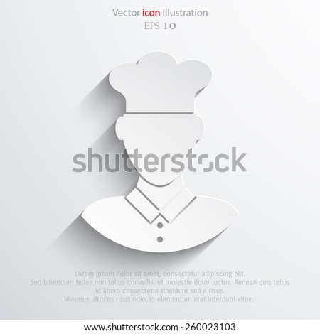 Chef cook flat icon illustration. - stock vector