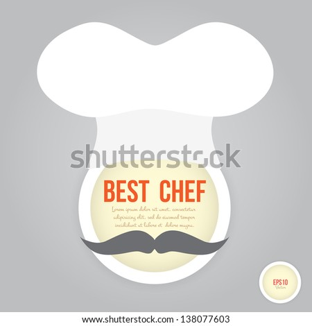 Chef face on retro style - stock vector