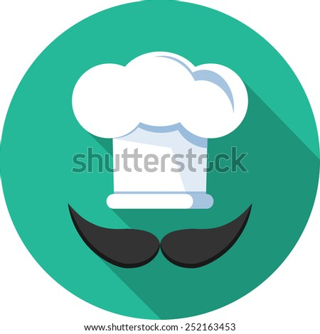 Chef Hat  Vector Flat Icon  - stock vector
