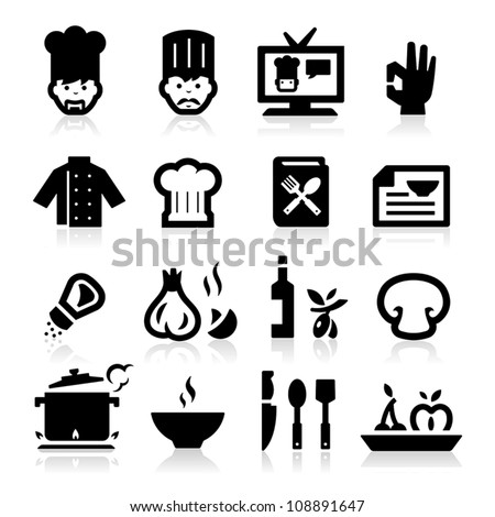 Chef icons - stock vector