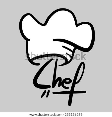 Chef sticker - stock vector