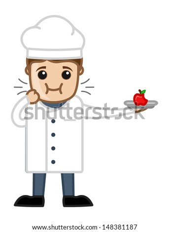 Chef Tasting the Food - Cartoon Business Vector Character - stock vector