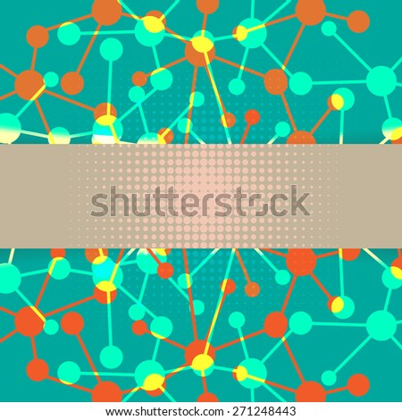 Chemical background - stock vector