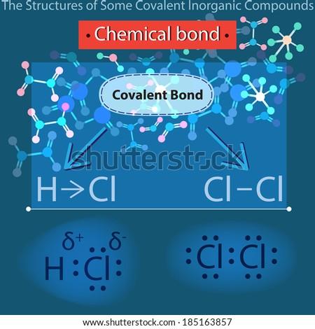 Chemical bond. - stock vector