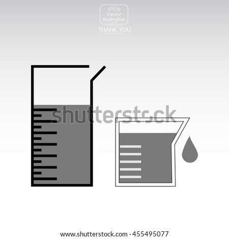Chemical Flask. Vector icon. - stock vector