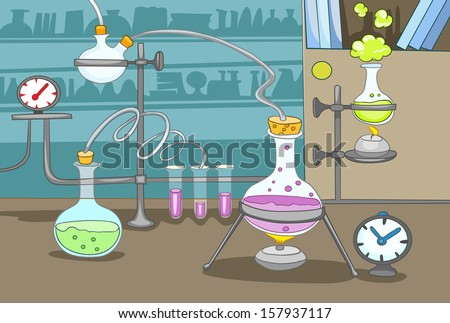 Chemical Laboratory - stock vector